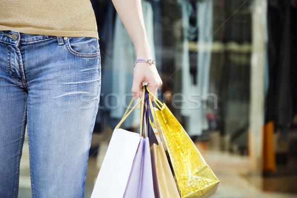 Alışveriş görmek kadın depolamak Stok fotoğraf © diego_cervo