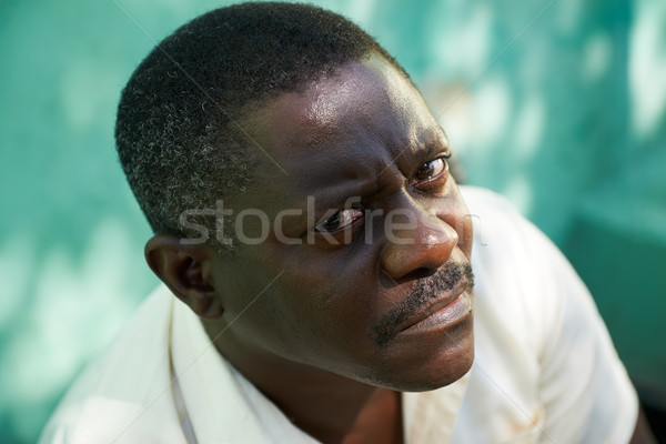 Portrait of middle aged african man staring the camera Stock photo © diego_cervo