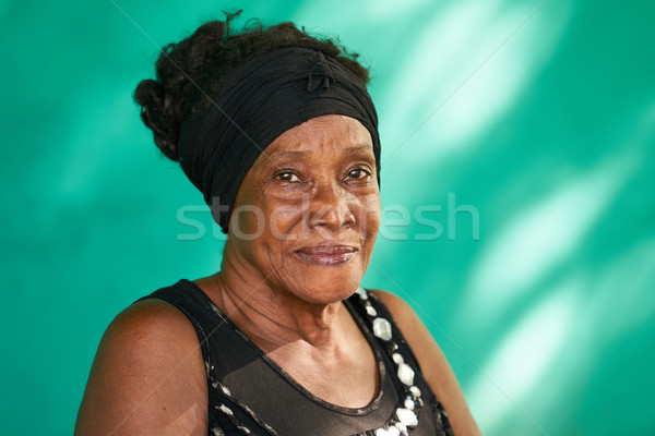 Real People Portrait Happy Elderly African American Woman Stock photo © diego_cervo