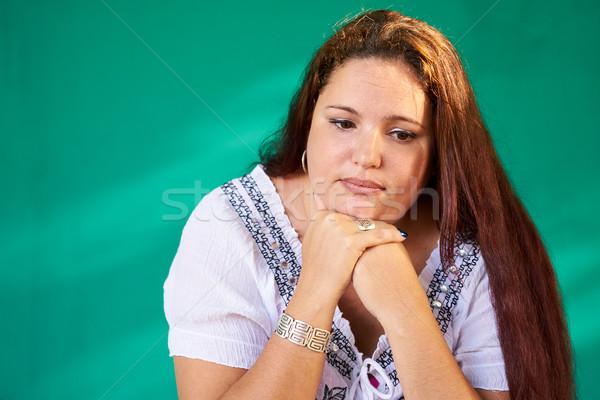 люди Выражения печально депрессия избыточный вес Сток-фото © diego_cervo