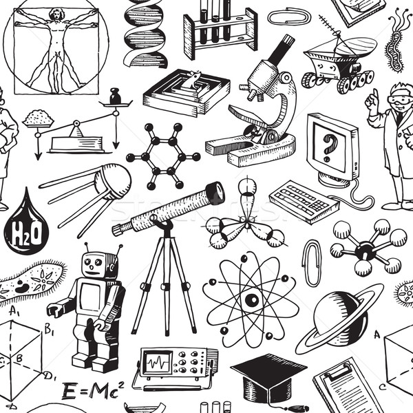 Stock photo: Science And Education Seamless Pattern