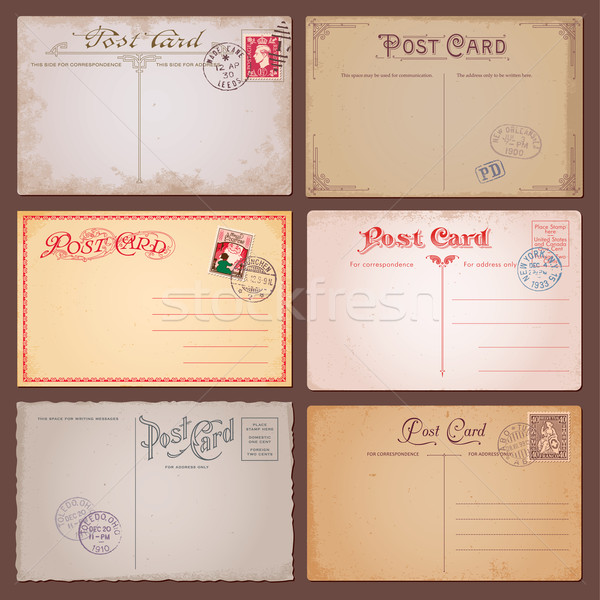 Stock photo: Vector Vintage Postcards