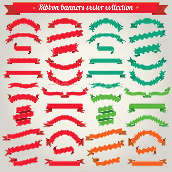 Ribbon Banners Vector Collection Stock photo © digiselector