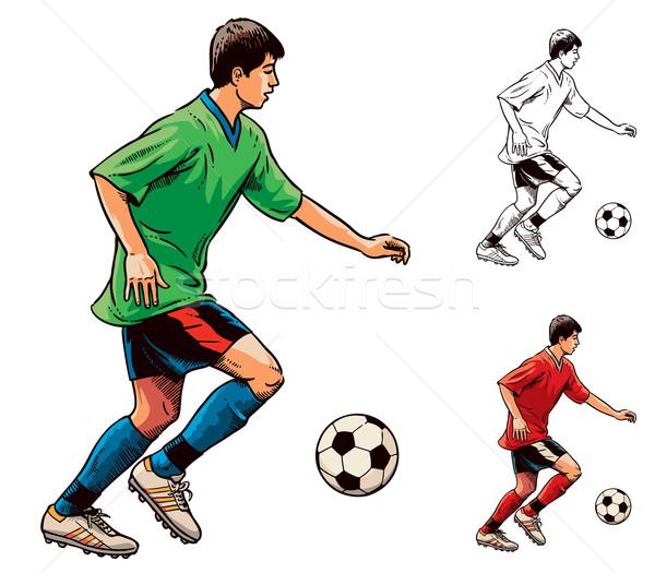 Рисованный футболист