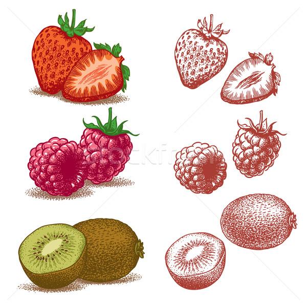 Strawberry, Raspberry, Kiwi Stock photo © digiselector