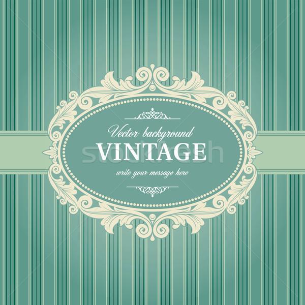 Vintage Background Frame Template Stock photo © digiselector