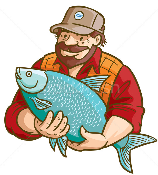 Fisherman With Fish Stock photo © digiselector