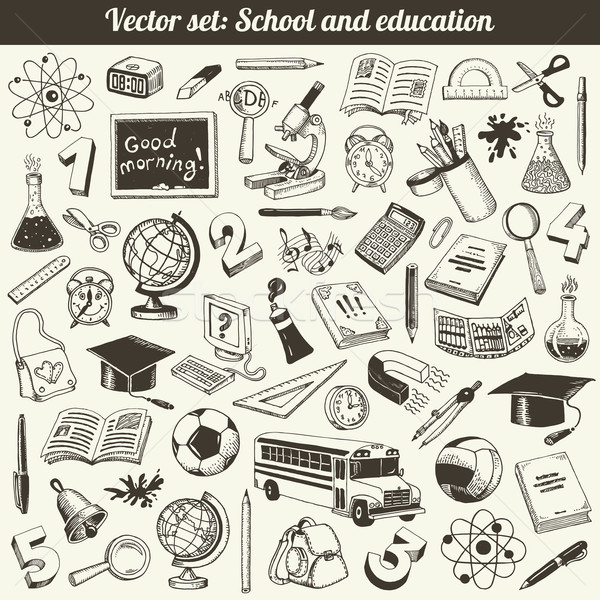 School And Education Doodles Vector Stock photo © digiselector