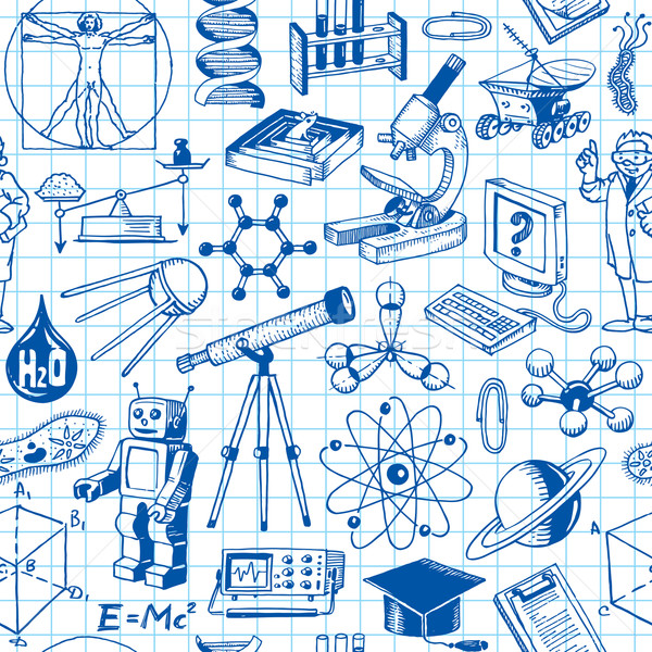 Science And Education Seamless Pattern Stock photo © digiselector