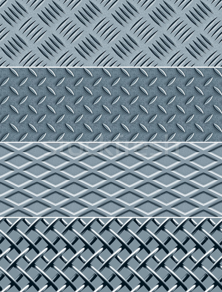 Metal Texture Seamless Patterns Stock photo © digiselector