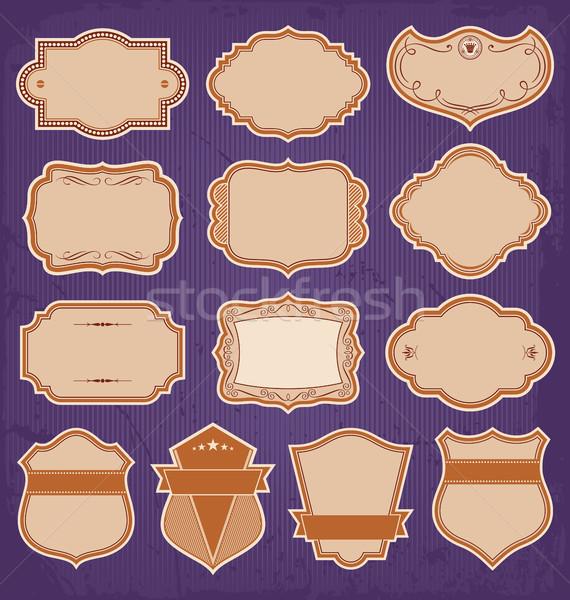 Vintage Frame Labels Set Vector Stock photo © digiselector