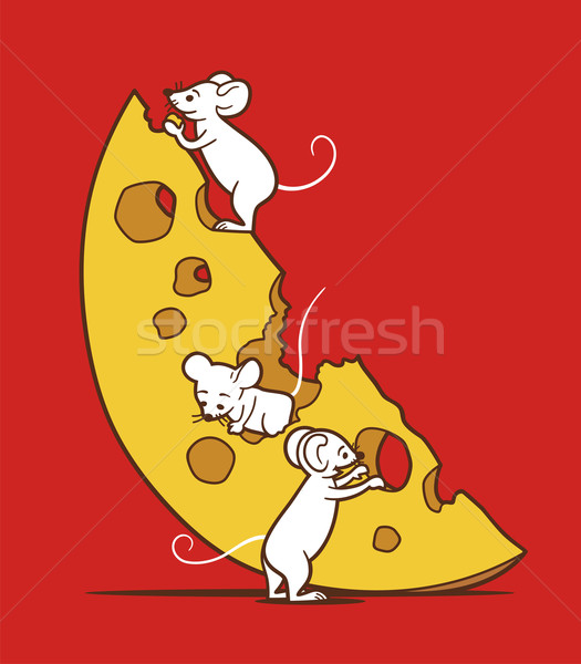 Mice And Cheese Stock photo © digiselector