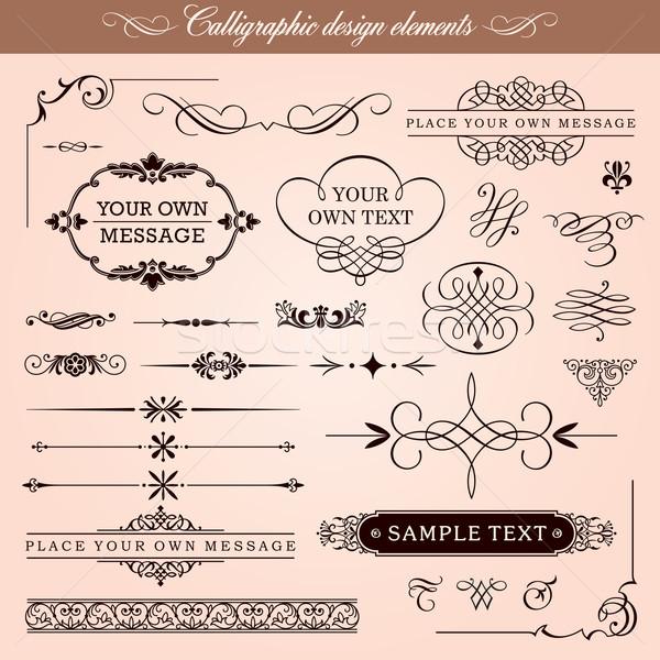 Calligraphic Design Elements Stock photo © digiselector