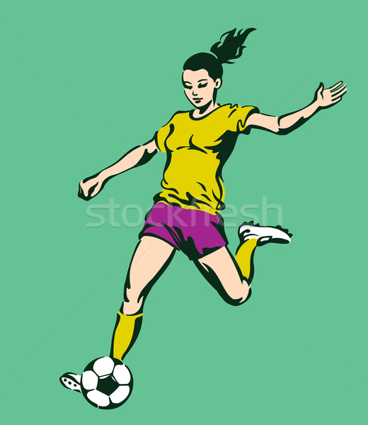 Soccer Football Female Player Stock photo © digiselector
