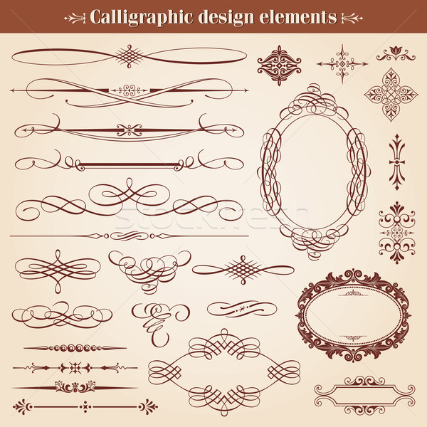 Stock photo: Vintage Calligraphic Design Elements And Page Decoration