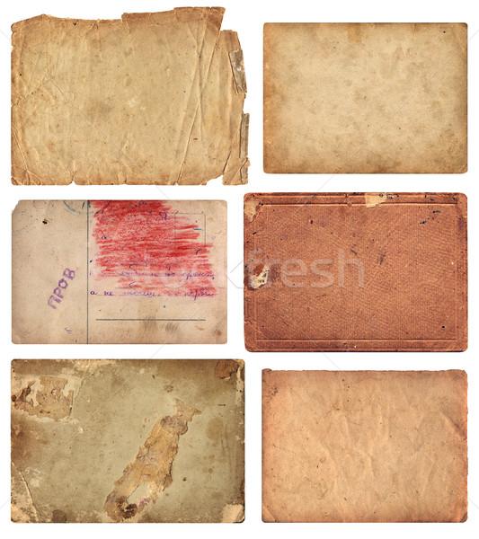 Grunge Old Paper Pieces Stock photo © digiselector