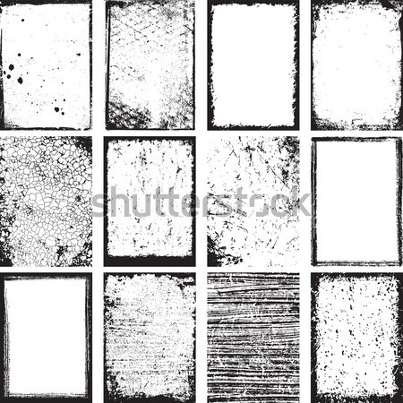 Grunge Square Backgrounds Vector Stock photo © digiselector