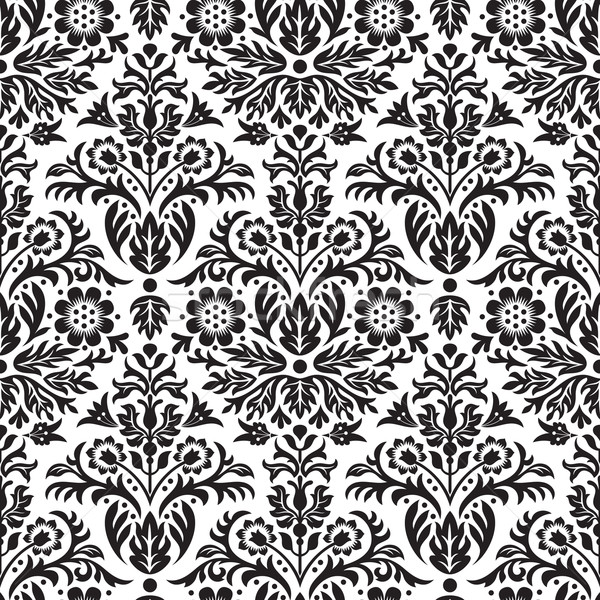 Damask Seamless Floral Pattern Background Stock photo © digiselector