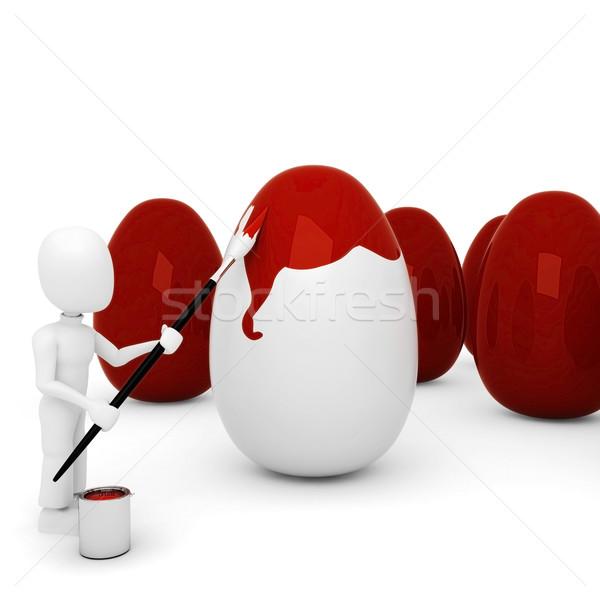 No descripción pintura huevo iglesia vacaciones Foto stock © digitalgenetics