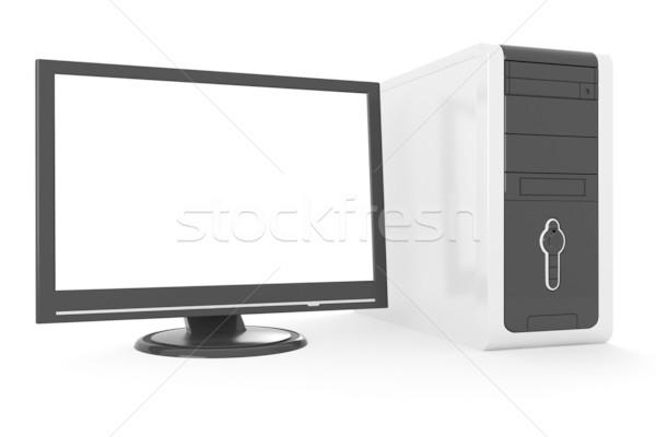 3D デスクトップ 孤立した 白 インターネット 金属 ストックフォト © digitalgenetics