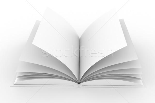 3D 図書 カバー 孤立した 白 ストックフォト © digitalgenetics