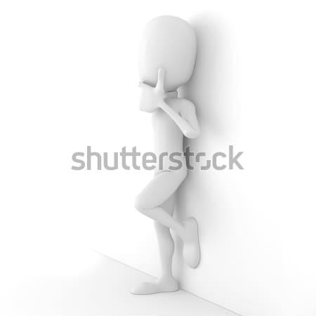 3d ember megbilincselve biztonság törvény rendőrség zár Stock fotó © digitalgenetics