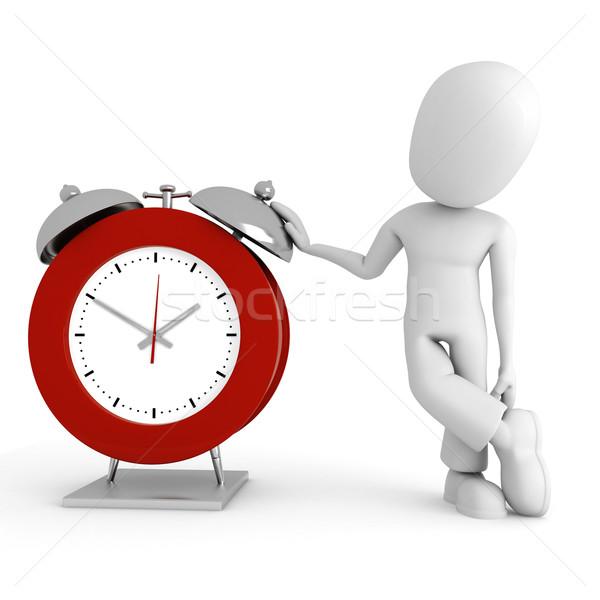 Mężczyzna 3d stałego oglądać człowiek zegar czasu Zdjęcia stock © digitalgenetics