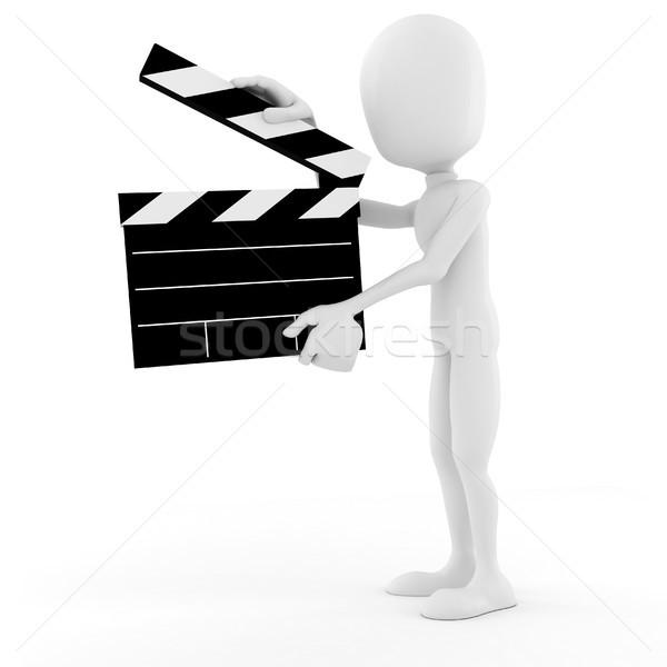 Hombre 3d director etapa acción hombre película Foto stock © digitalgenetics