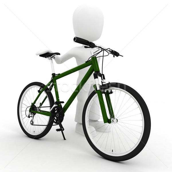 Pas description sport fitness Voyage vélo Photo stock © digitalgenetics