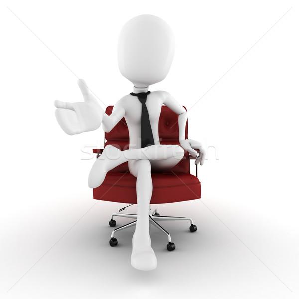 3d человек деловой человек руки Председатель мнимый Сток-фото © digitalgenetics
