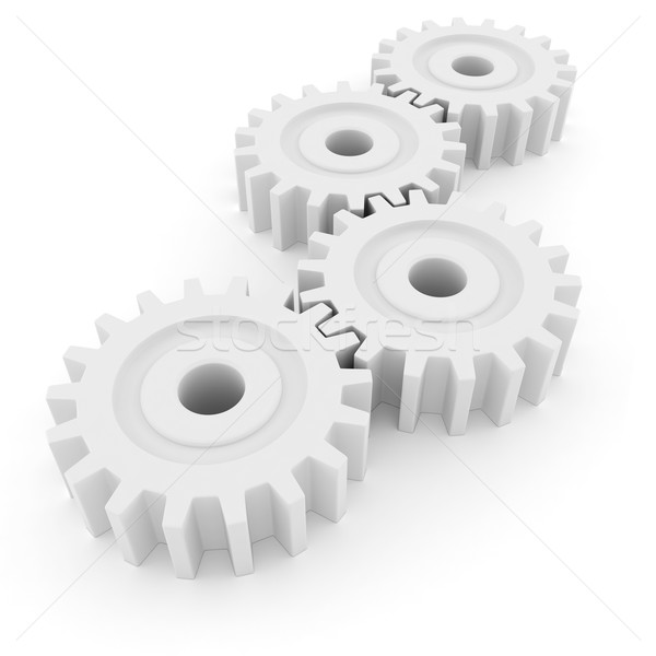3D attrezzi ruota isolato bianco lavoro Foto d'archivio © digitalgenetics