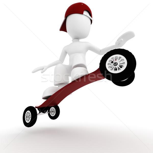 ストックフォト: 3次元の男 · 極端な · スケート · 男 · スポーツ · 抽象的な