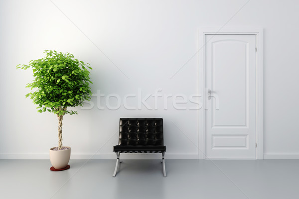 3d cozy interior design Stock photo © digitalgenetics