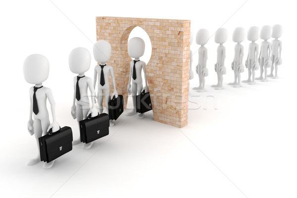 3d man regular person to business man transform concept Stock photo © digitalgenetics