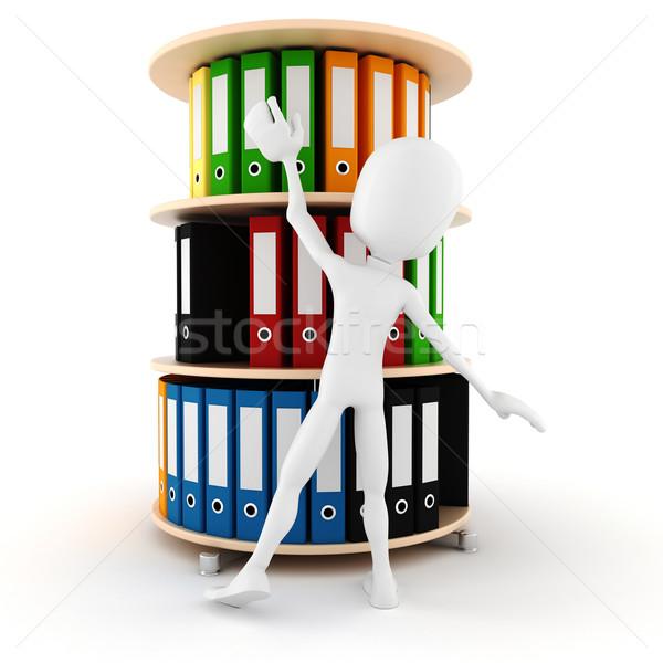 3d man trying to grab a dossier Stock photo © digitalgenetics