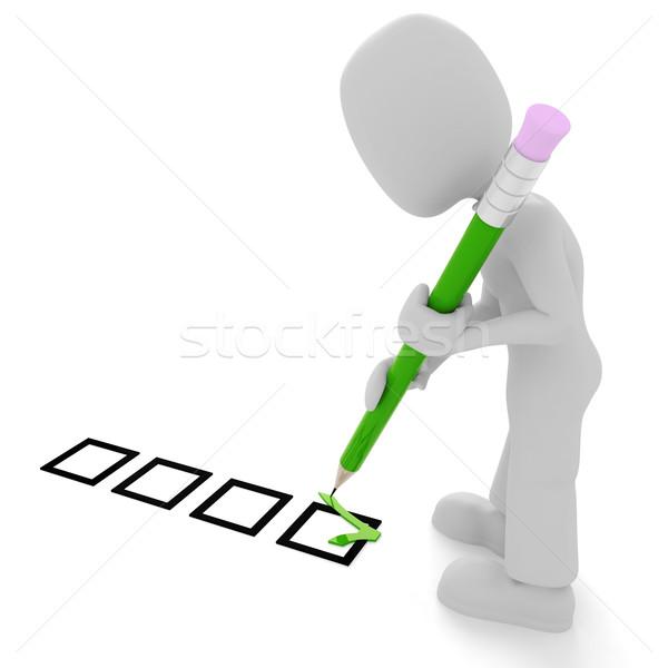 Geen beschrijving teken Rood werknemer persoon Stockfoto © digitalgenetics