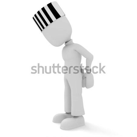3次元の男 セキュリティ 法 警察 ロック ストックフォト © digitalgenetics