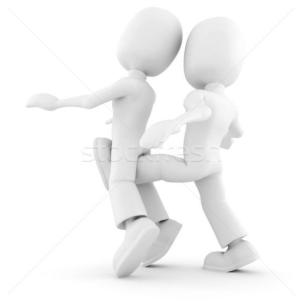 3D adversaire affaires homme fond art Photo stock © digitalgenetics