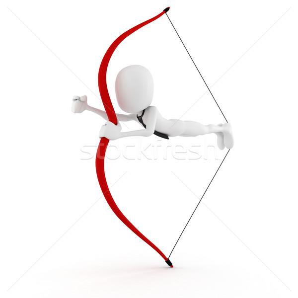 3d man launching himself in to business Stock photo © digitalgenetics