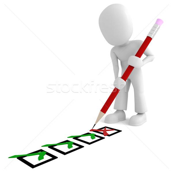 Não descrição assinar vermelho trabalhador pessoa Foto stock © digitalgenetics