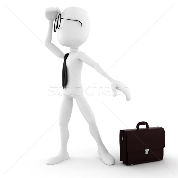 3d man looking for job opportunity Stock photo © digitalgenetics