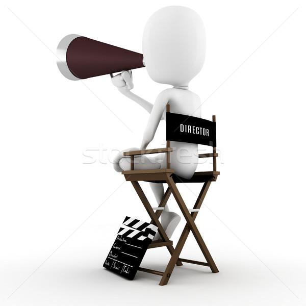 3d человек директор этап действий человека фильма Сток-фото © digitalgenetics
