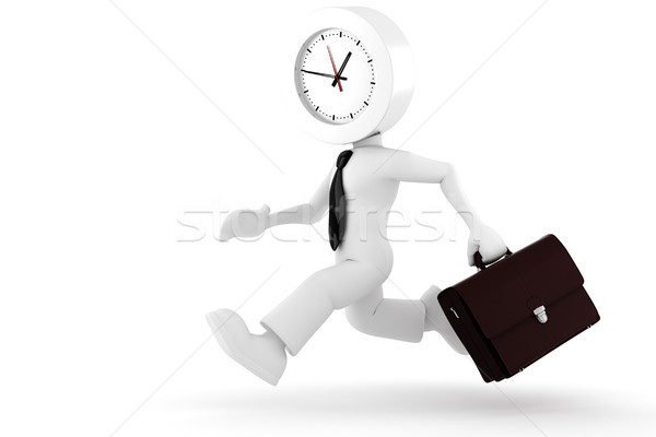 3d man,  businessman running out of time Stock photo © digitalgenetics