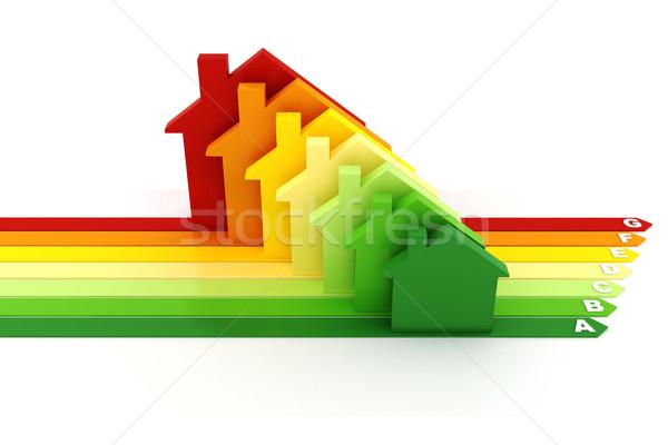 3D energiahatékonyság fehér építkezés otthon technológia Stock fotó © digitalgenetics