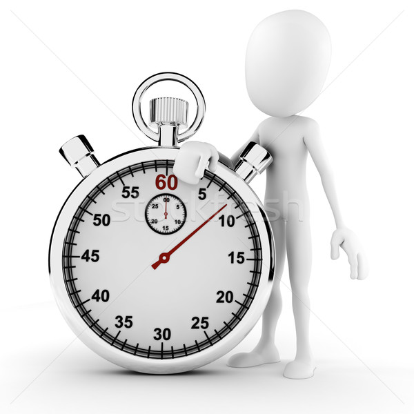 3d man and stopwatch concept Stock photo © digitalgenetics
