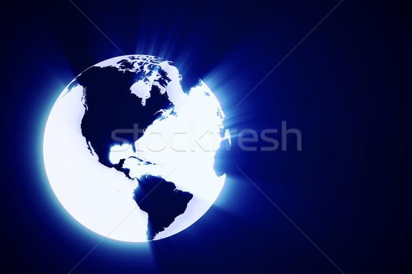 3D abstract lucido terra mondo business Foto d'archivio © digitalgenetics