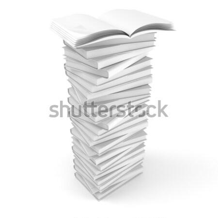 3D isolato bianco computer libro studente Foto d'archivio © digitalgenetics
