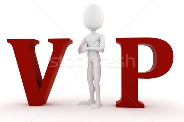 3d man VIP isolated on white background Stock photo © digitalgenetics