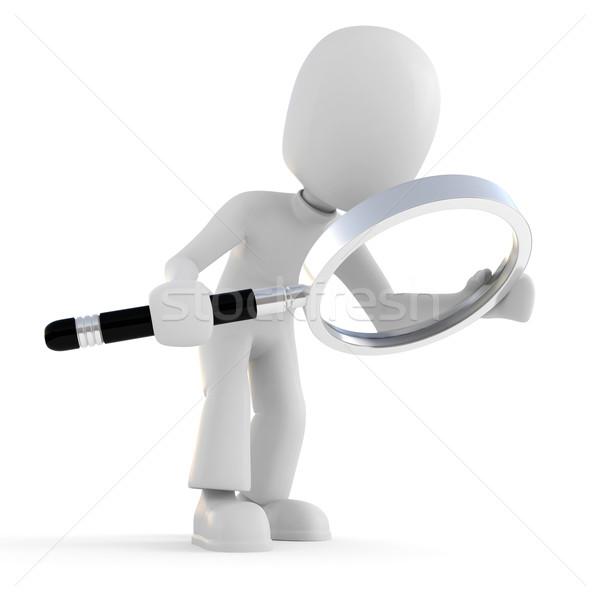 3次元の男 ガラス ビジネス 男 ストックフォト © digitalgenetics