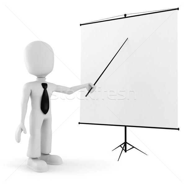 3次元の男 会議 立って ボード ビジネス 男 ストックフォト © digitalgenetics